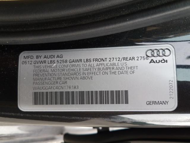 WAUGGAFC4CN176183 2012 AUDI A6 PREMIUM PLUS