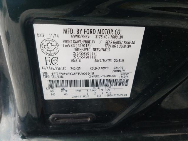 1FTEW1EG3FFA06915 2015 FORD F150 SUPERCREW