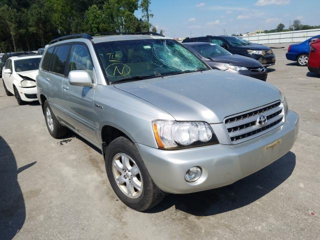 Salvage cars for sale from Copart Dunn, NC: 2003 Toyota Highlander