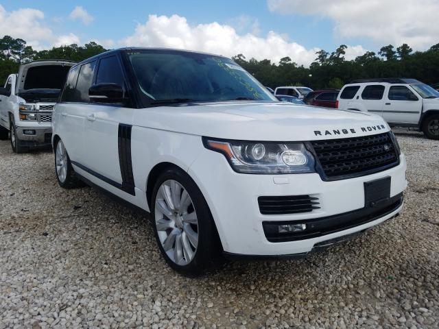 Salvage 2015 Land Rover RANGE ROVER for sale