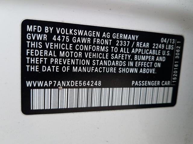 Купить Volkswagen Cc 2013 г. из США с доставкой и растаможкой под ключ.