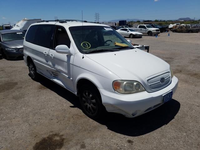 Salvage cars for sale from Copart Tucson, AZ: 2005 KIA Sedona EX