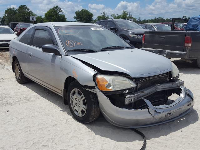 Salvage cars for sale from Copart Midway, FL: 2002 Honda Civic LX