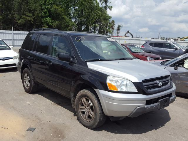 Salvage cars for sale from Copart Dunn, NC: 2004 Honda Pilot EXL