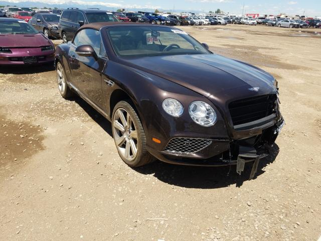 Bentley Continental salvage cars for sale: 2016 Bentley Continental