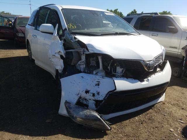 Toyota Sienna SE salvage cars for sale: 2018 Toyota Sienna SE