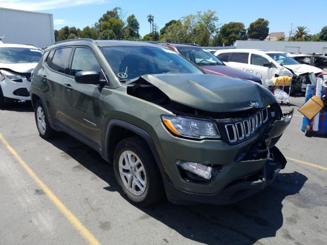 Jeep Compass SP salvage cars for sale: 2018 Jeep Compass SP