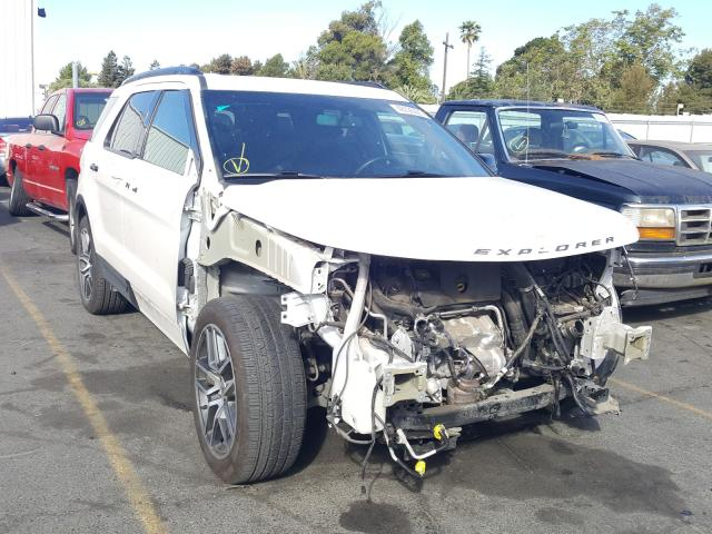 Ford Explorer S salvage cars for sale: 2016 Ford Explorer S