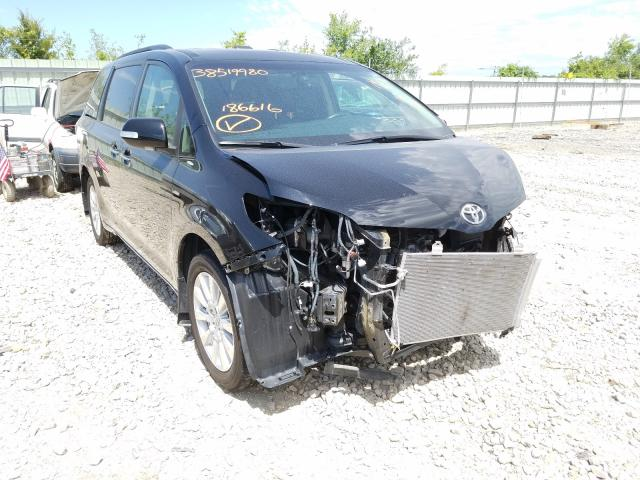 Salvage cars for sale from Copart Kansas City, KS: 2017 Toyota Sienna XLE
