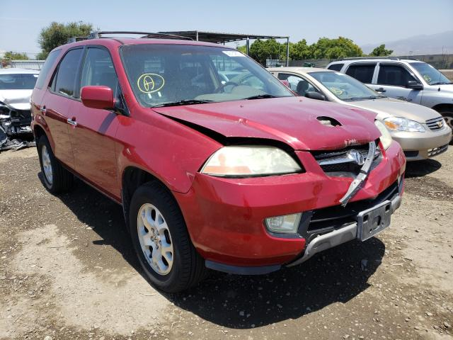 Acura MDX Touring salvage cars for sale: 2002 Acura MDX Touring