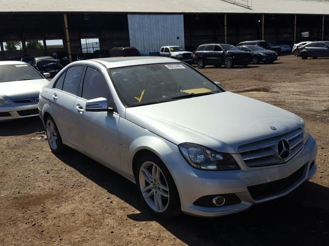 Mercedes-Benz C250 salvage cars for sale: 2012 Mercedes-Benz C250
