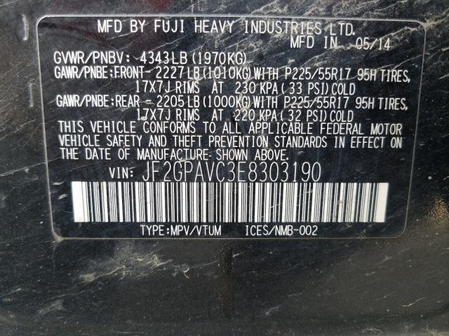JF2GPAVC3E8303190 2014 SUBARU XV CROSSTREK 2.0 PREMIUM