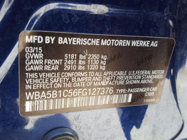 WBA5B1C56FG127376 2015 BMW 535 I