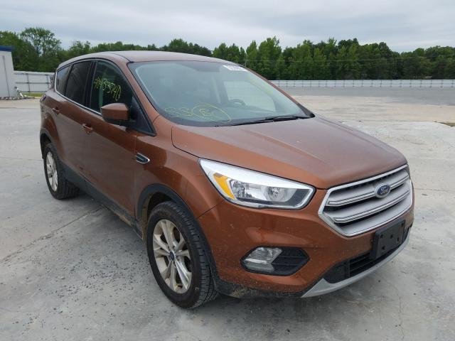 Salvage cars for sale from Copart Fredericksburg, VA: 2017 Ford Escape SE