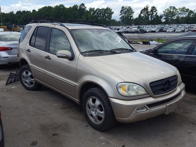 Mercedes-Benz ML 320 salvage cars for sale: 2002 Mercedes-Benz ML 320