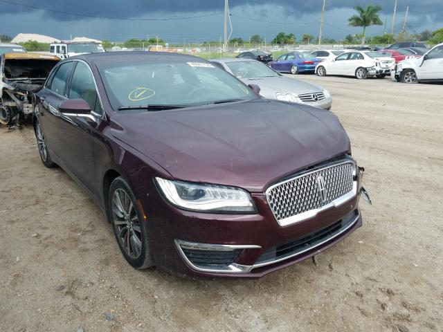 Lincoln MKZ Hybrid salvage cars for sale: 2017 Lincoln MKZ Hybrid