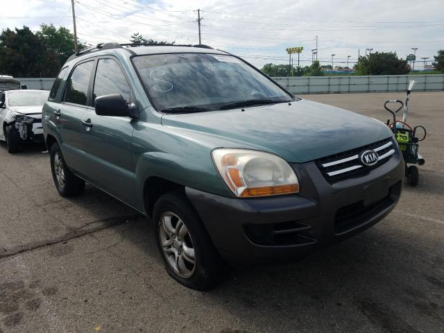 Salvage cars for sale from Copart Moraine, OH: 2007 KIA Sportage E