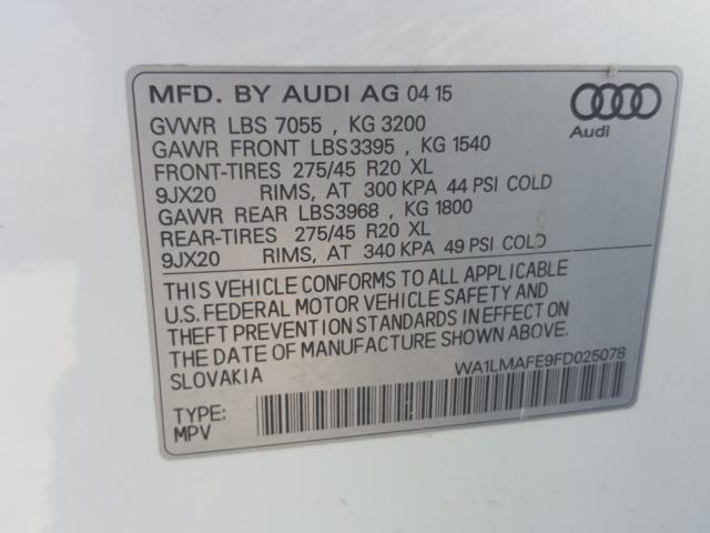 WA1LMAFE9FD025078 2015 AUDI Q7 TDI PREMIUM PLUS