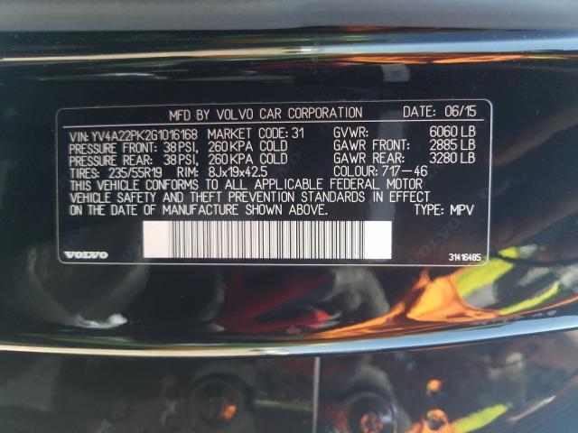 YV4A22PK2G1016168 2016 VOLVO XC90 T6