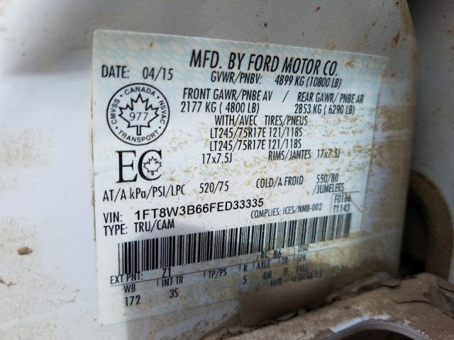 1FT8W3B66FED33335 2015 FORD F350 SUPER DUTY