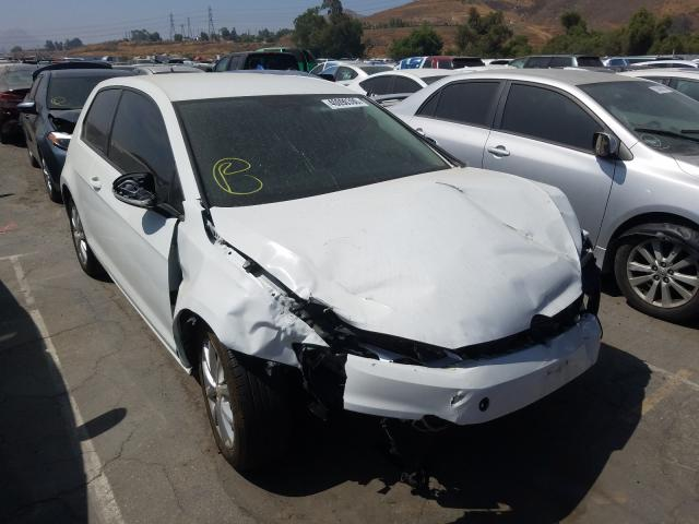Volkswagen Golf salvage cars for sale: 2015 Volkswagen Golf
