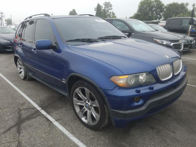 BMW X5 4.8IS salvage cars for sale: 2005 BMW X5 4.8IS