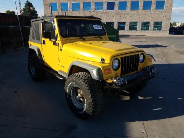 Jeep Wrangler salvage cars for sale: 2002 Jeep Wrangler