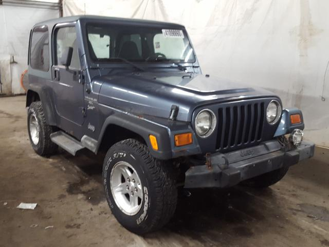 Salvage cars for sale from Copart Ebensburg, PA: 2001 Jeep Wrangler