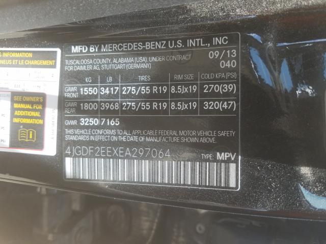2014 Mercedes-Benz GL   Vin: 4JGDF2EEXEA297064