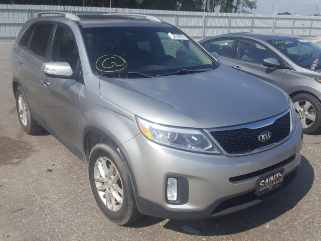 Salvage cars for sale from Copart Dunn, NC: 2015 KIA Sorento LX