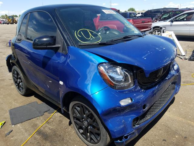 Smart salvage cars for sale: 2016 Smart Fortwo