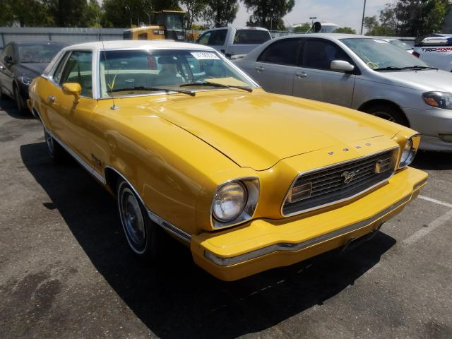 Salvage cars for sale from Copart Rancho Cucamonga, CA: 1974 Ford Mustang GH