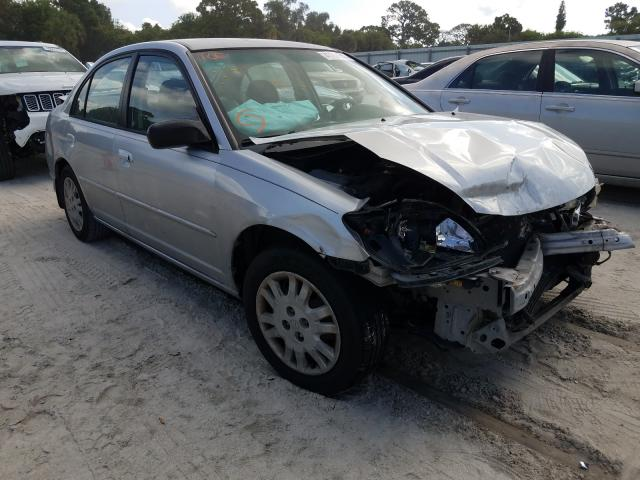 Salvage cars for sale from Copart Fort Pierce, FL: 2005 Honda Civic LX