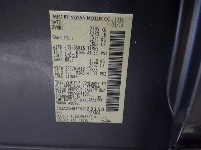 5N1AZ2MH1FN223158 2015 NISSAN MURANO S