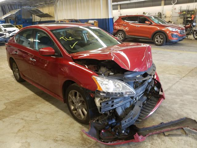 Salvage cars for sale from Copart Wheeling, IL: 2014 Nissan Sentra S