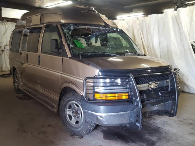 Salvage cars for sale from Copart Ebensburg, PA: 2003 Chevrolet Express G1