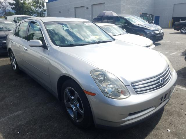 Salvage cars for sale from Copart Rancho Cucamonga, CA: 2003 Infiniti G35