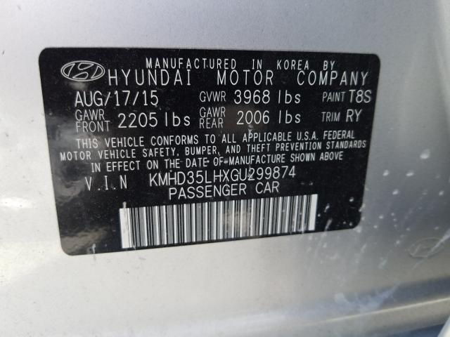 KMHD35LHXGU299874 2016 HYUNDAI ELANTRA GT
