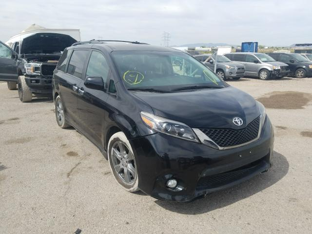 Toyota salvage cars for sale: 2017 Toyota Sienna SE