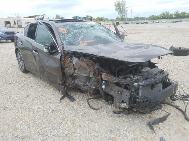 Salvage cars for sale from Copart Kansas City, KS: 2014 Infiniti Q50 Base