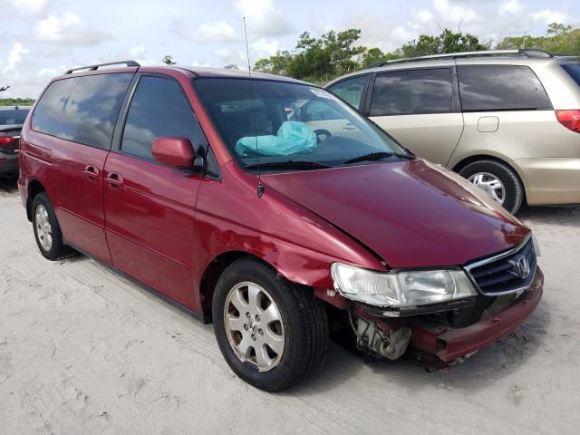 Salvage cars for sale from Copart Fort Pierce, FL: 2002 Honda Odyssey EX