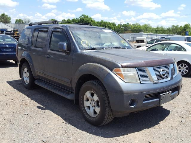 Salvage cars for sale from Copart Hillsborough, NJ: 2005 Nissan Pathfinder