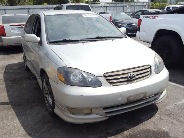 Toyota salvage cars for sale: 2003 Toyota Corolla CE