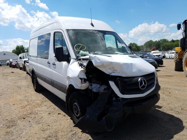 Salvage cars for sale from Copart Hillsborough, NJ: 2017 Mercedes-Benz Sprinter 2