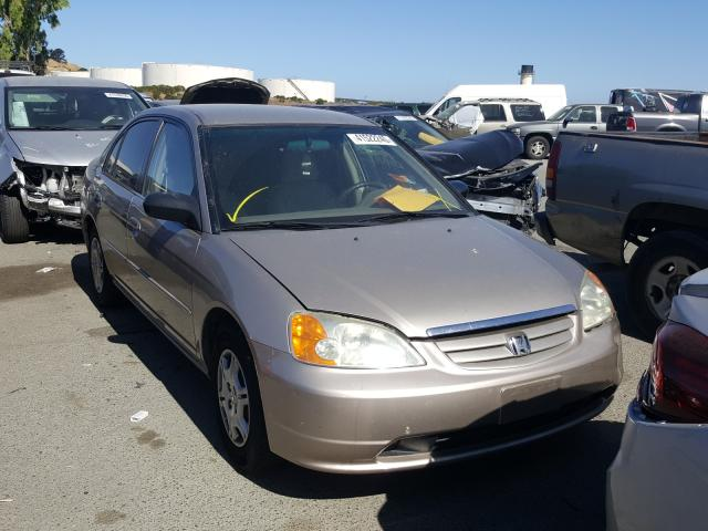 Honda Civic LX salvage cars for sale: 2002 Honda Civic LX