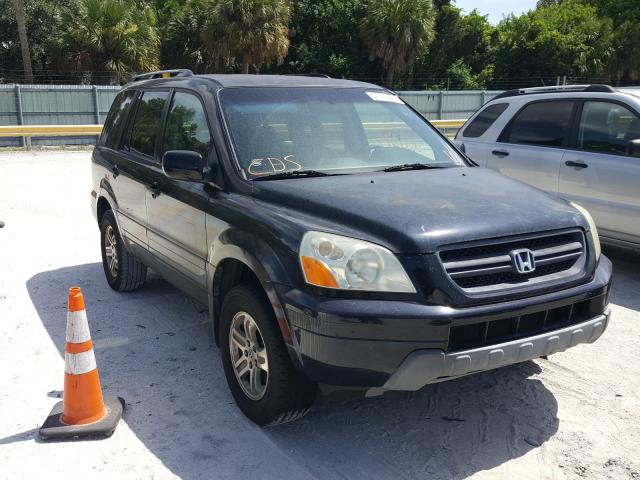 Salvage cars for sale from Copart Fort Pierce, FL: 2004 Honda Pilot EXL