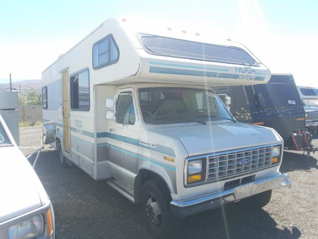 Salvage cars for sale from Copart Reno, NV: 1989 Ford E350 White