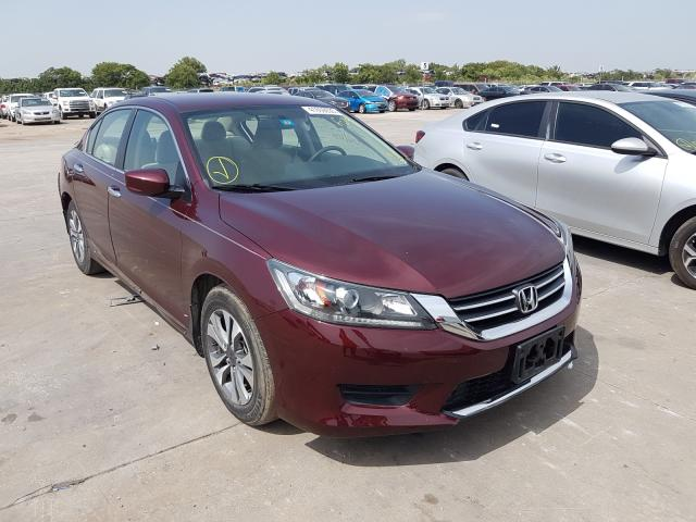 Salvage cars for sale from Copart Grand Prairie, TX: 2013 Honda Accord LX