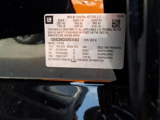 1GNSCBKC6GR330452 2016 CHEVROLET TAHOE C1500 LT