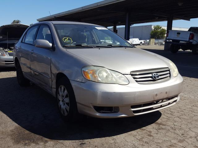 Salvage cars for sale from Copart Hayward, CA: 2003 Toyota Corolla CE